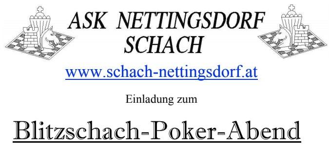Blitzschach-Poker-Abend