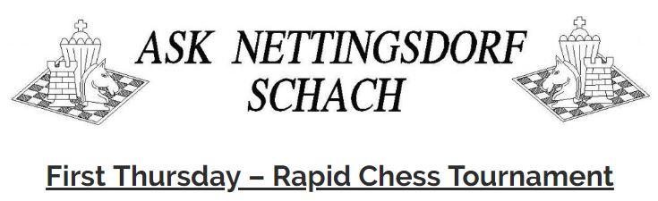 First Thursday Rapid Chess Tournament 2019